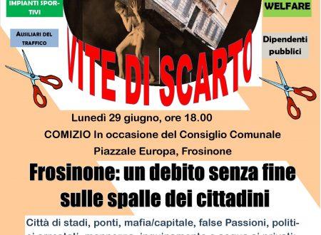 Frosinone: un debito senza fine sulle spalle dei cittadini